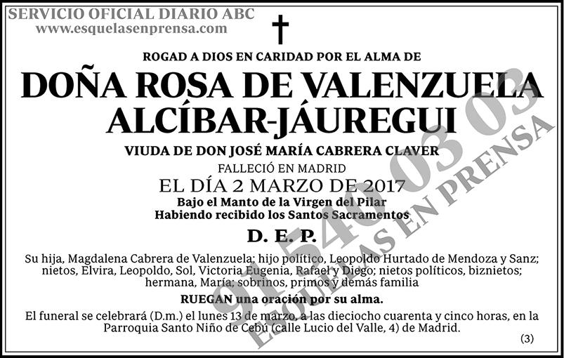 Rosa de Valenzuela Alcíbar-Jáuregui